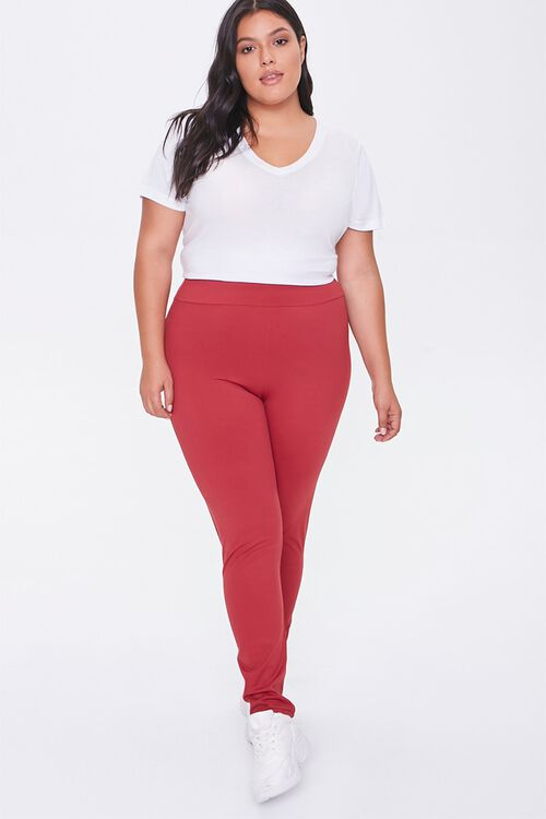 Plus Size Active High-Rise Leggings, image 1