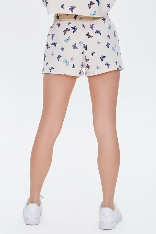 Butterfly Print French Terry Shorts, image 4