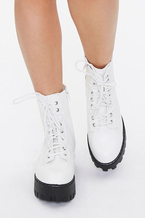 Faux Leather Lace-Up Platform Boots, image 4