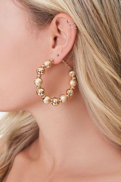 Ball Hoop Earrings, image 1