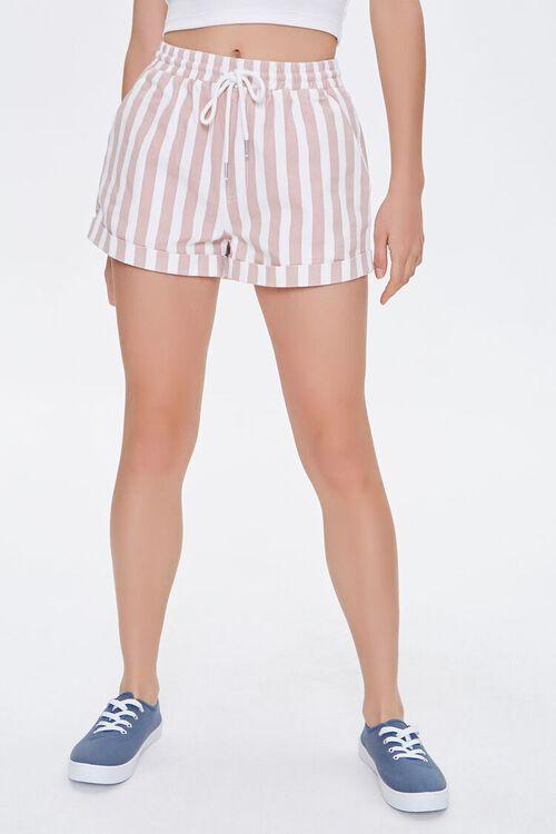 Striped Twill Shorts, image 2