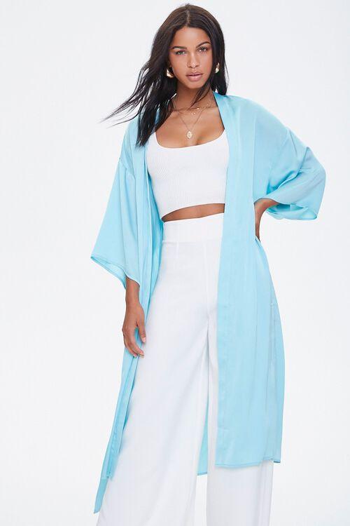 Belted Longline Kimono, image 5