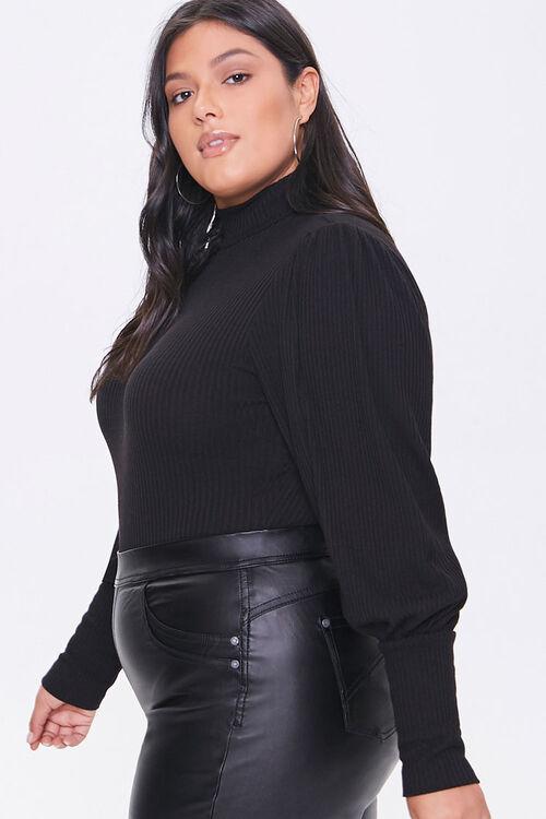Plus Size Balloon-Sleeve Bodysuit, image 2