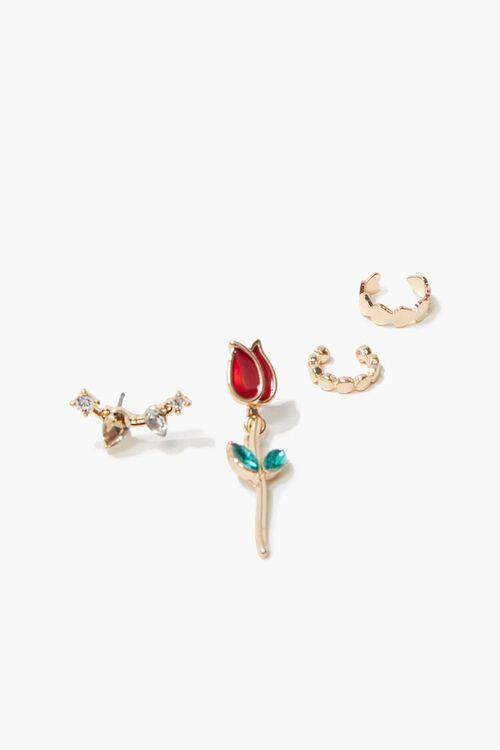 Rose Pendant Earring Set, image 2