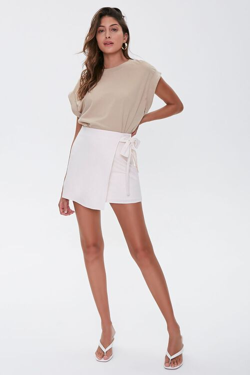 Tie-Waist Mini Skirt, image 5