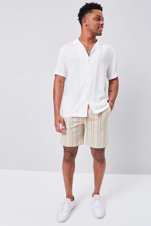 Striped Print Drawstring Shorts, image 5