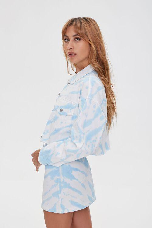 WHITE/BLUE Tie-Dye Denim Jacket, image 2