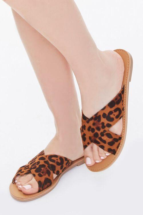 Leopard Crisscross Sandals, image 1