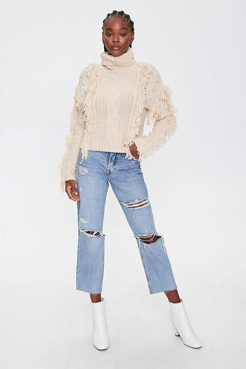 Loop-Knit Trim Turtleneck Sweater, image 4