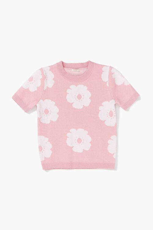 Girls Floral Sweater-Knit Top (Kids), image 1
