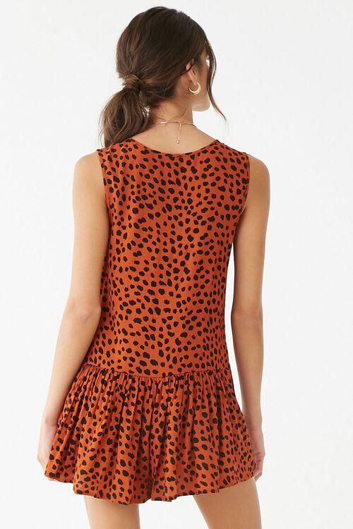 RUST/BLACK Cheetah Print Romper, image 4