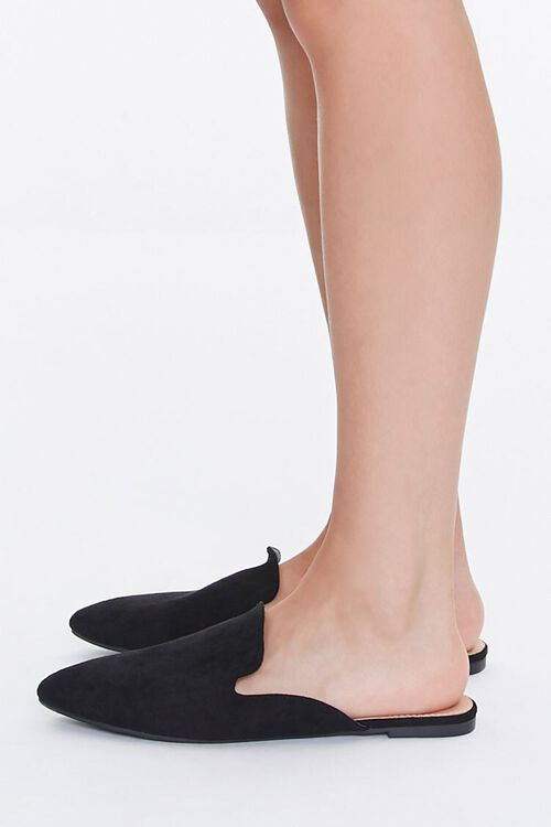 Pointed Faux Suede Mules, image 2
