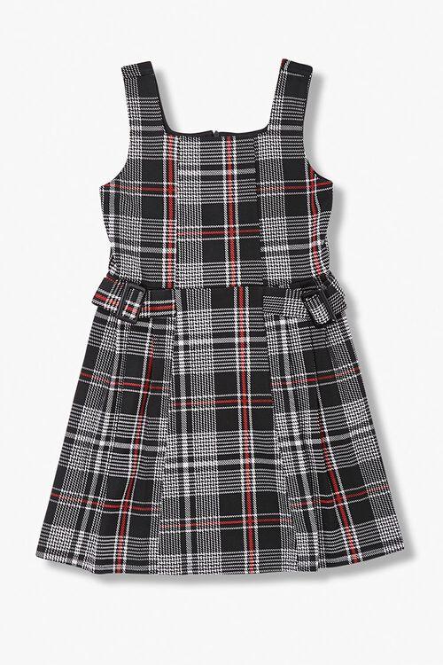 Girls Plaid Belted Dress (Kids), image 1