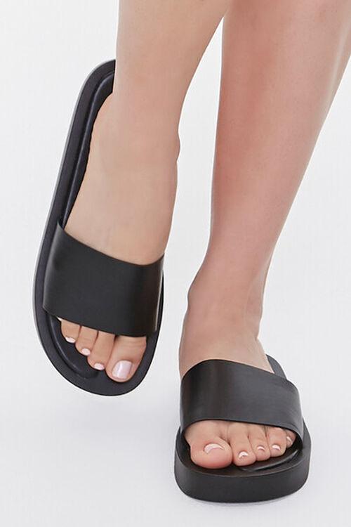 Faux Leather Flatform Sandals, image 4