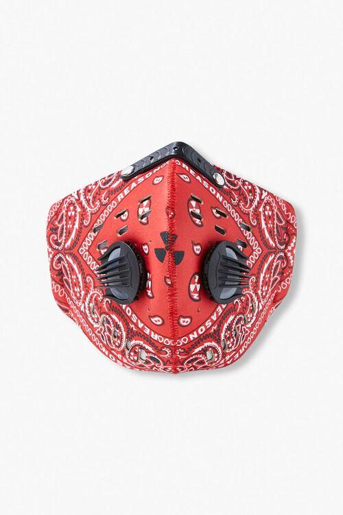 RED/MULTI Men Paisley Face Mask, image 1