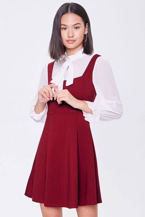 Chiffon Combo Dress, image 1