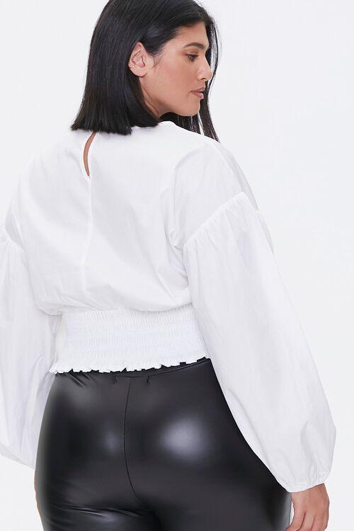 Plus Size Balloon-Sleeve Top, image 3