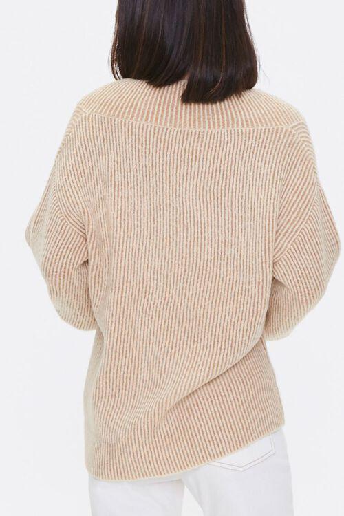 Ribbed Surplice Sweater, image 3