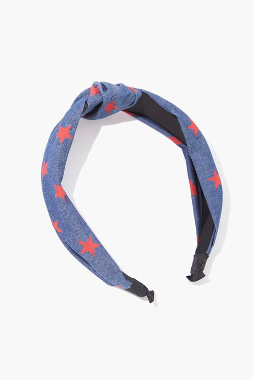 Star Print Knotted Headband, image 1