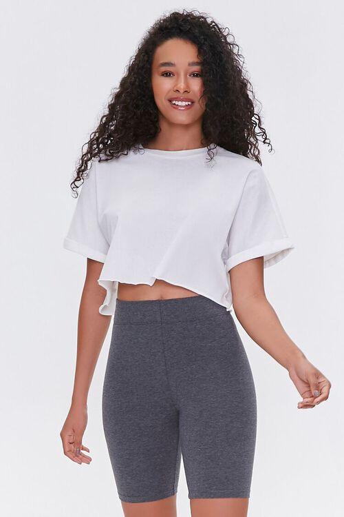Organically Grown Cotton Biker Shorts, image 1