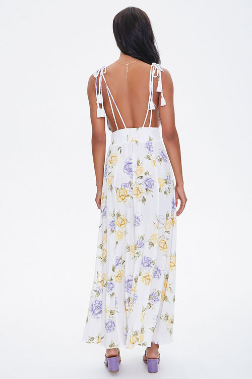 Floral Plunging Maxi Dress, image 3