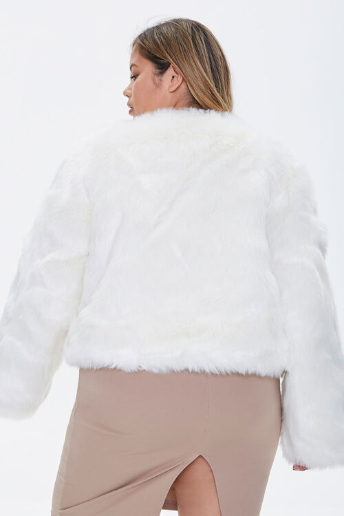 Plus Size Faux Fur Open-Front Jacket, image 3