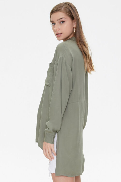 Vented High-Low Longline Shirt, image 2
