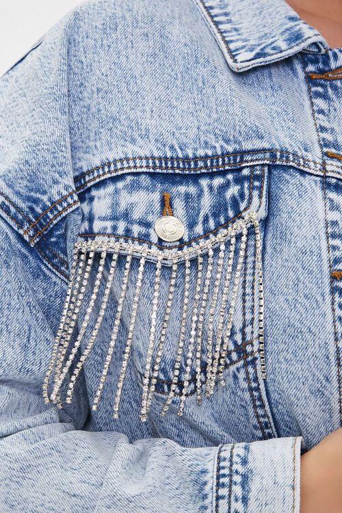 Plus Size Rhinestone Denim Jacket, image 5