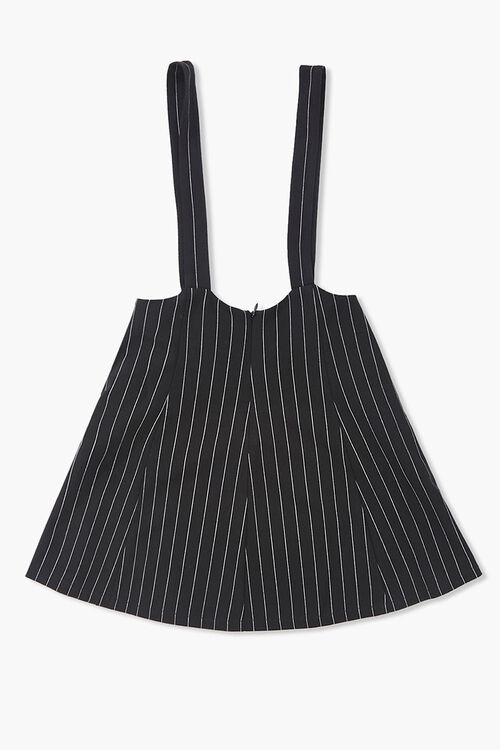 Girls Pinstriped Overall Dress (Kids), image 2