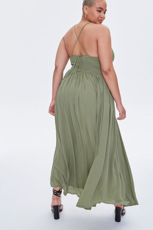 Plus Size Crisscross Maxi Dress, image 3