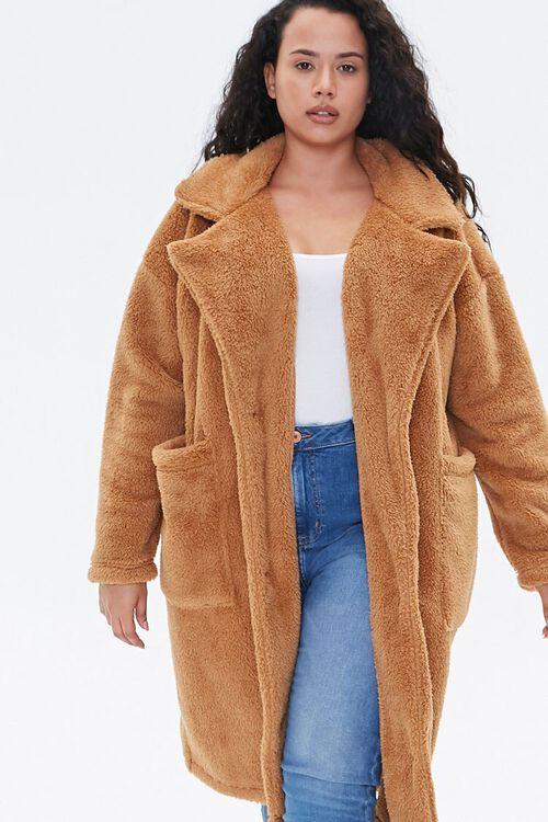 Plus Size Faux Fur Teddy Coat, image 5