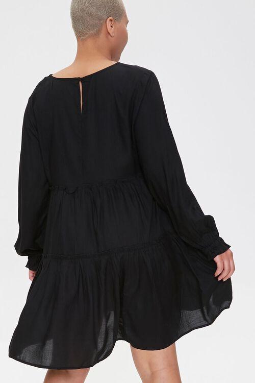 Plus Size Flowy Tiered Peasant Dress, image 3