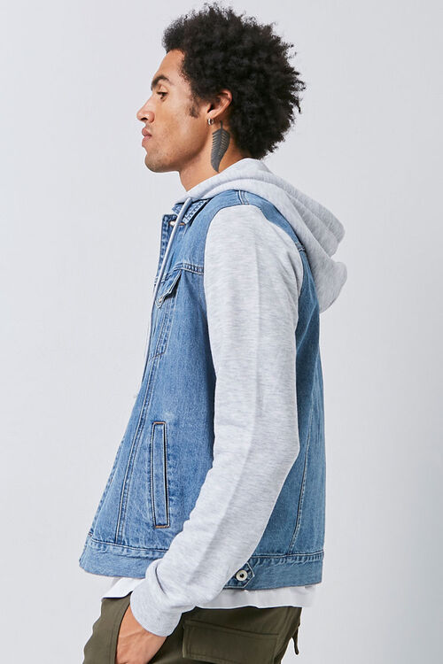 Combo Hooded Denim Jacket, image 2