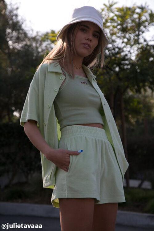 Terry Cloth Shirt & Shorts Set, image 1
