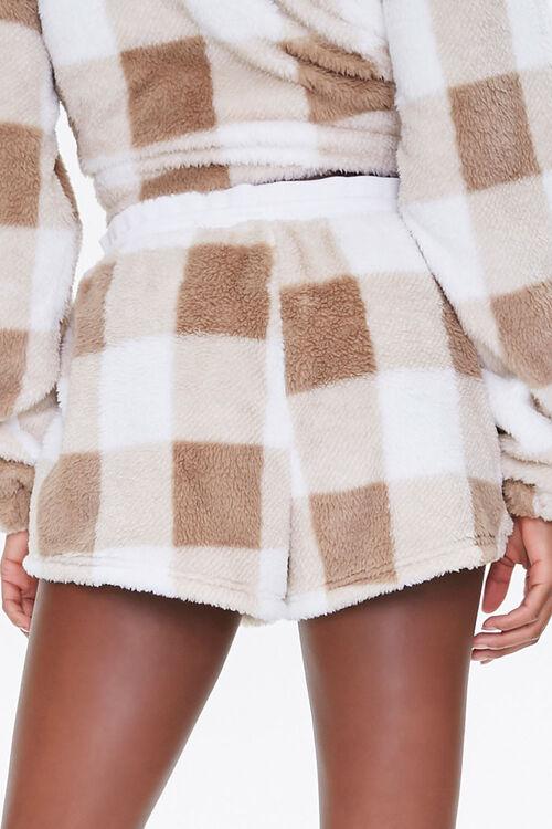 Plush Gingham Drawstring Shorts, image 4