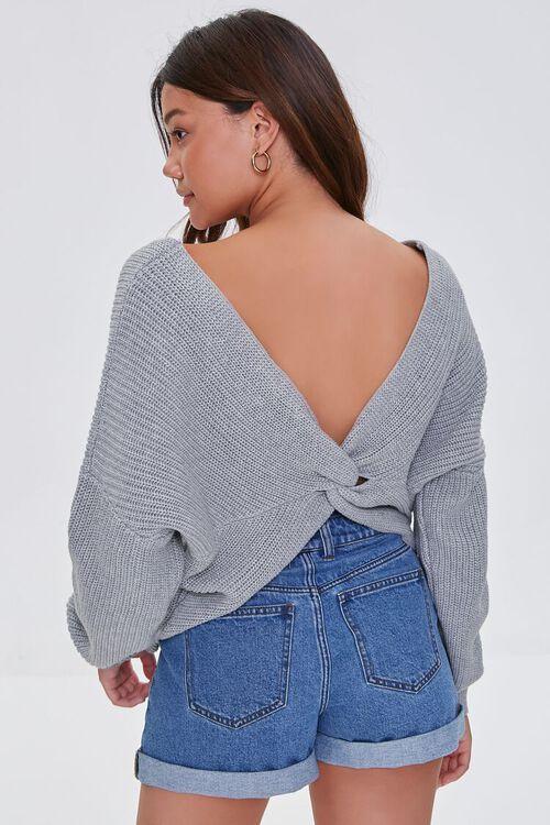 Ribbed Twist-Back Sweater, image 4
