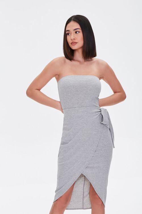 Ribbed Tulip-Hem Dress, image 1