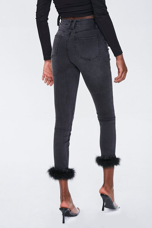 Feathered-Trim Ankle Jeans, image 4