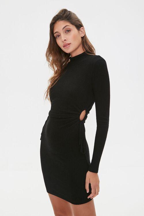 Ribbed Cutout Mini Dress, image 1