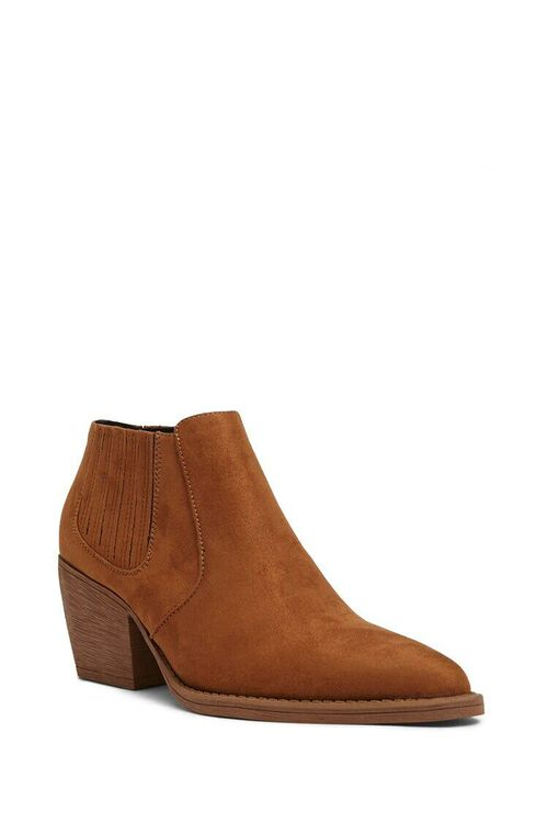 BROWN Faux Suede Chelsea Boots, image 2