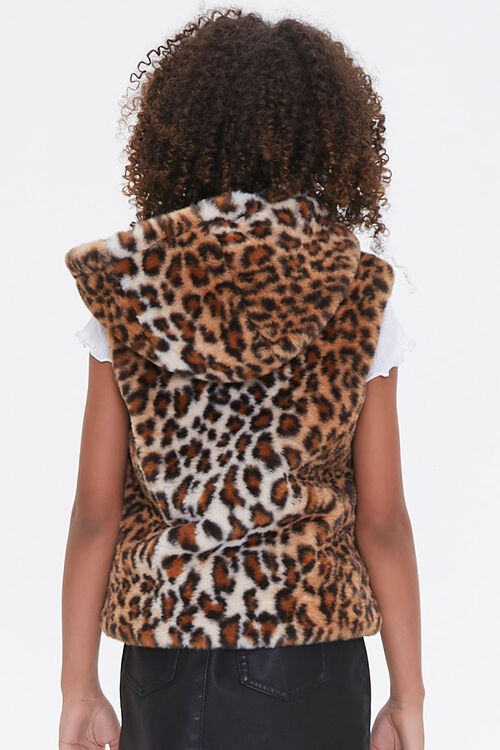 Girls Hooded Leopard Vest (Kids), image 3