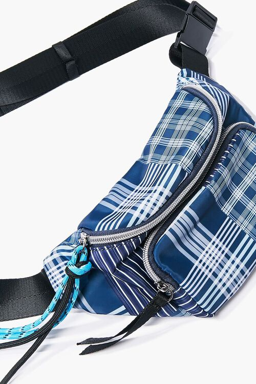 Plaid Zippered Fanny Pack, image 3