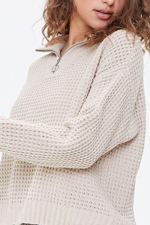 Open-Knit Half-Zip Sweater, image 5