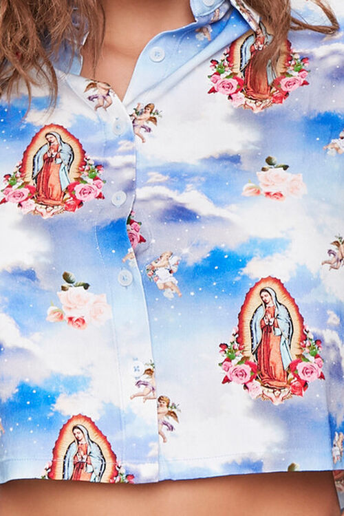 BLUE/MULTI Our Lady of Guadalupe Print Shirt, image 4