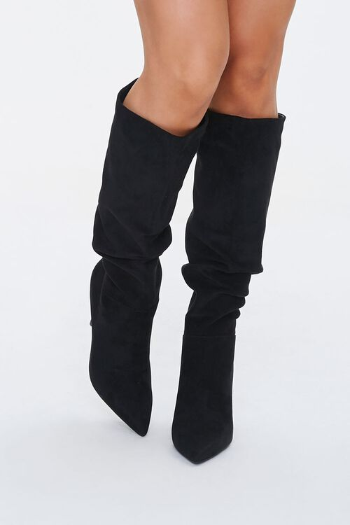 Slouchy Stiletto Knee-High Boots, image 4