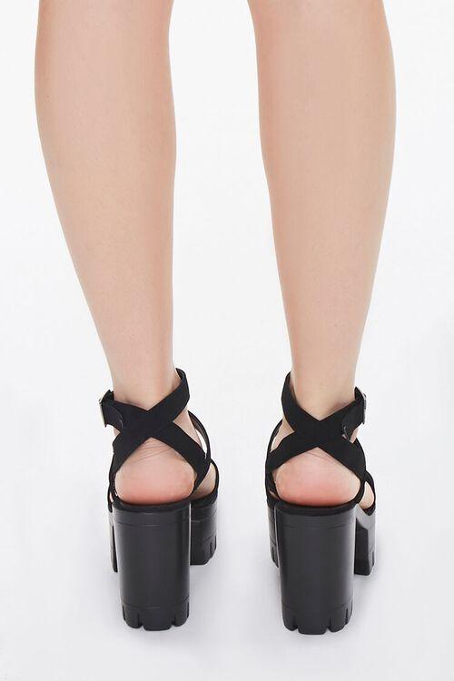 Strappy Platform Block Heels, image 2