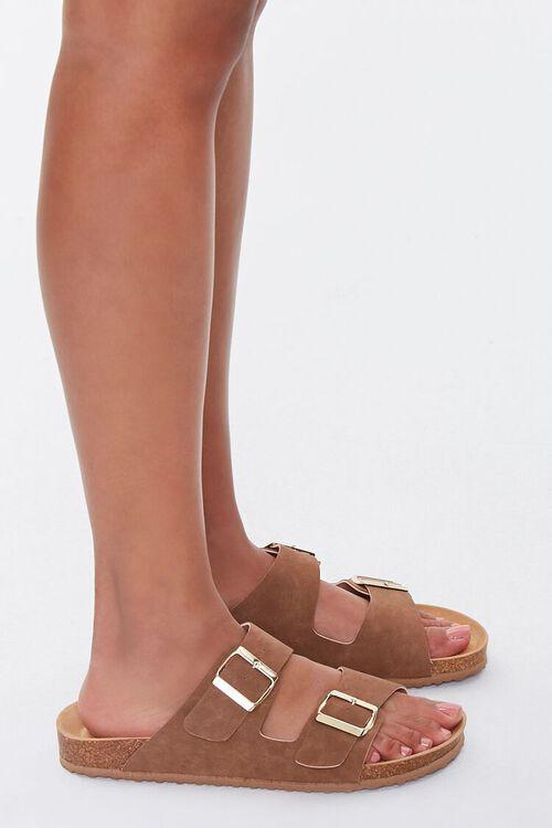 Buckled Flatform Sandals (Wide), image 2