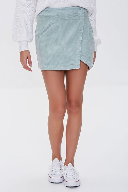 PISTACHIO Corduroy Mini Skirt, image 2