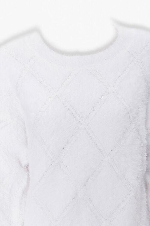 Fuzzy Diamond Pattern Sweater, image 3