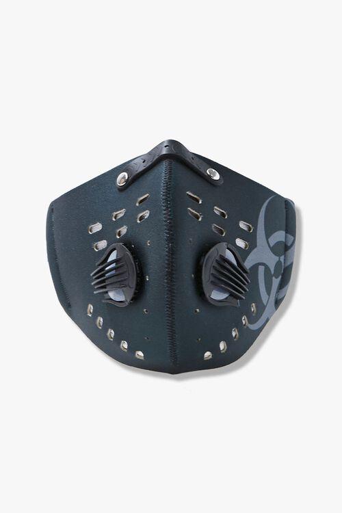 Men Graphic Valve Face Mask, image 1